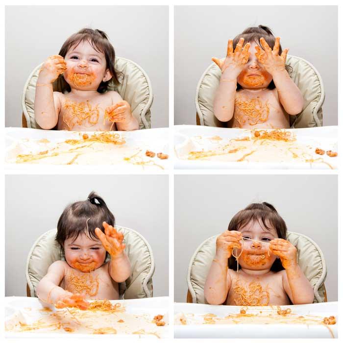 Das Kind darf das Essen ganzheitlich erfahren ©depositphotos.com